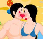 Beach Side Kiss
